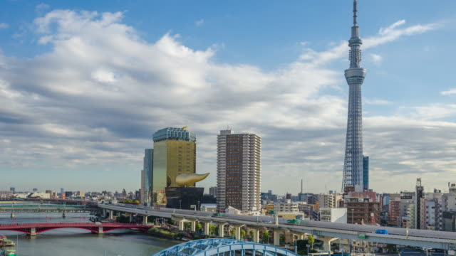 4k move up time lapse of tokyo sky tree, landmark of japan - shitamachi stock videos and b-roll footage