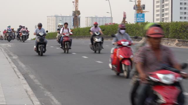 サイゴン (ホーチミン)、ベトナムにおける道路交通の 4 k 映画