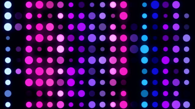 4k multicolored led circle light - infinite loop - led light stock videos & royalty-free footage