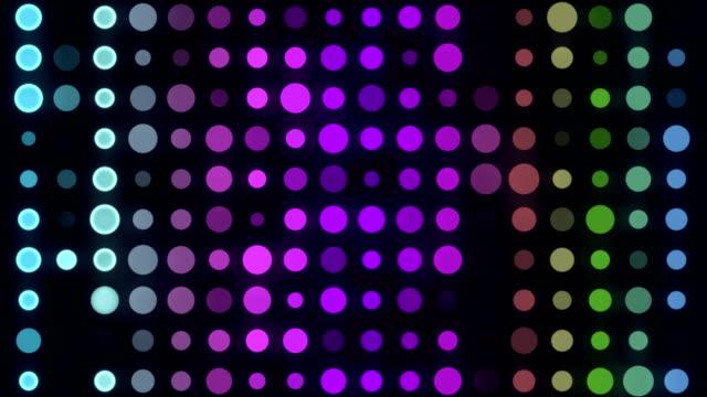 4k 多色 led サークルライト-無限ループ - spotted点の映像素材/bロール