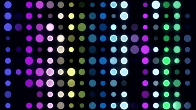 4k multicolored led circle light - infinite loop - ball stock videos & royalty-free footage