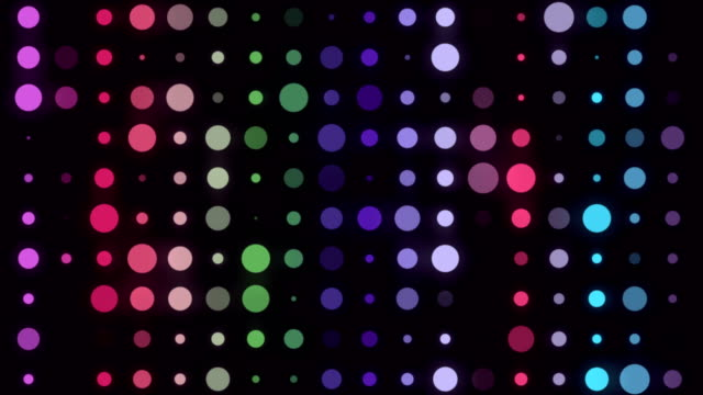 vídeos de stock e filmes b-roll de 4k multicolored led circle light - infinite loop - dance music