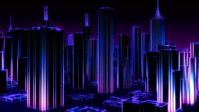 4k neon city vj loop - neon stock videos & royalty-free footage
