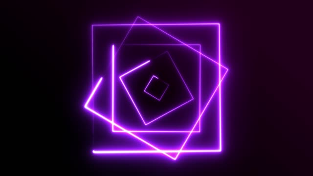 4k neon square lights background seamless loop - sports round stock videos & royalty-free footage