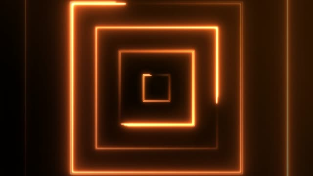 4k neon square lights background seamless loop - orange colour stock videos & royalty-free footage