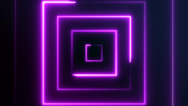 4k neon square lights background seamless loop - square stock videos & royalty-free footage