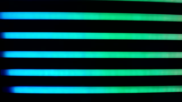 4k neon tube colorful lights background - fluorescent light stock videos & royalty-free footage
