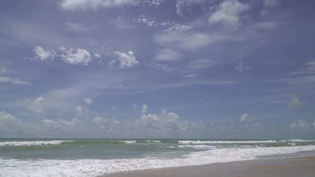 4k of Sea beach with blue sky.