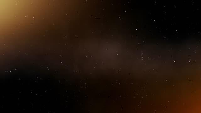 vidéos et rushes de 4k orange espace abstrait - galaxie