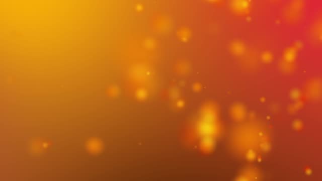 4k orange light beams, bokeh floating on colorful orange, gradient background in motion. looped 3d animation of dynamic particles turning in the air with bokeh video - orange colour stock videos & royalty-free footage