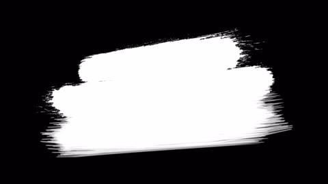 4k 畫筆擦拭打開和關閉過渡 - 從左至右擦除畫筆筆觸的視訊轉換效果。墨水刷斯特羅克。色度鍵,阿爾法通道(透明度) - 磨砂 個影片檔及 b 捲影像