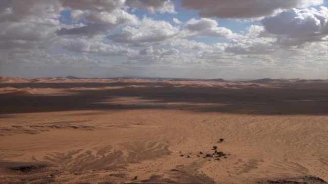 4k - panorama of tifernine, special erg of sahara desert - last stock videos & royalty-free footage