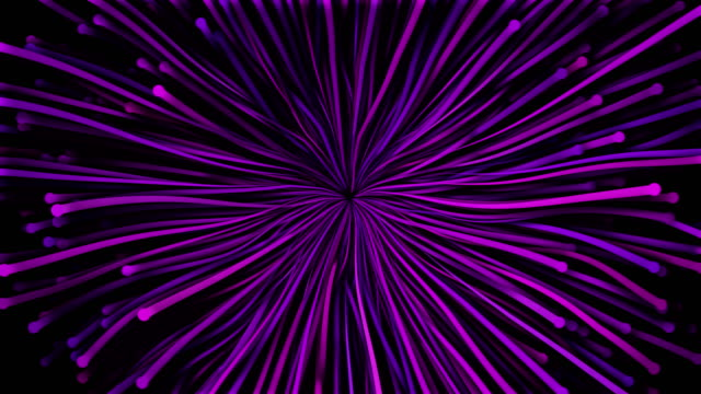 4k particle waves intro - abstract flower - purple stock videos & royalty-free footage
