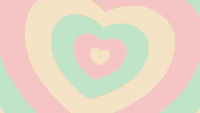 4k : Pastel Heart Animated Background