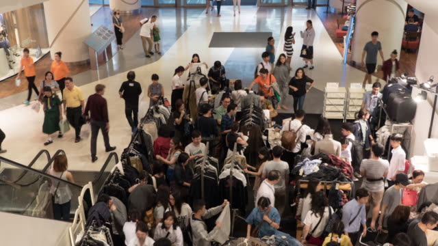 4k people shopping for clothes in shopping mall - plug socket stock videos and b-roll footage