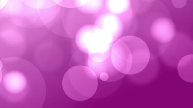 4k Pink Bokeh Animation Background Seamless Loop Stock Footage Video