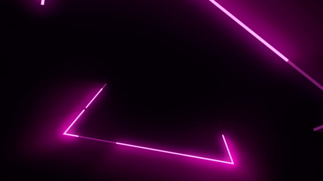 vídeos de stock e filmes b-roll de 4k pink triangle abstract concert background - dance music