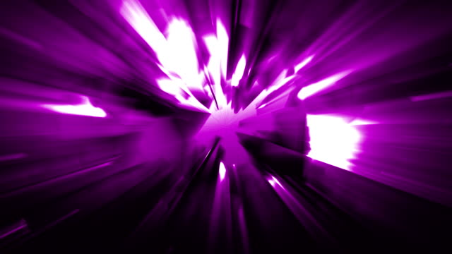 4k purple energy effect background with power source tech spreading geometrical shapes triangles and rectangles and light leaks from the energy source before the explosion loopable video, sci-fi, techno,music,energy,transportation,celebration concepts - transportation event stock videos and b-roll footage