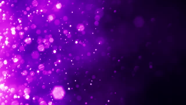 4k purple particles horizontal movement - background animation - loopable - ethereal stock videos and b-roll footage