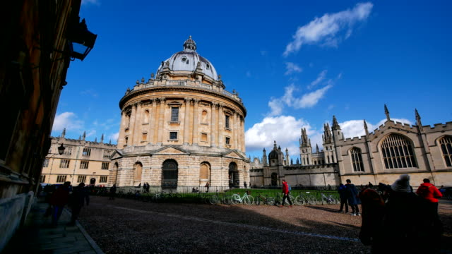 4k radcliffe camera, oxford university, england uk- time-lapse - radcliffe camera stock videos and b-roll footage
