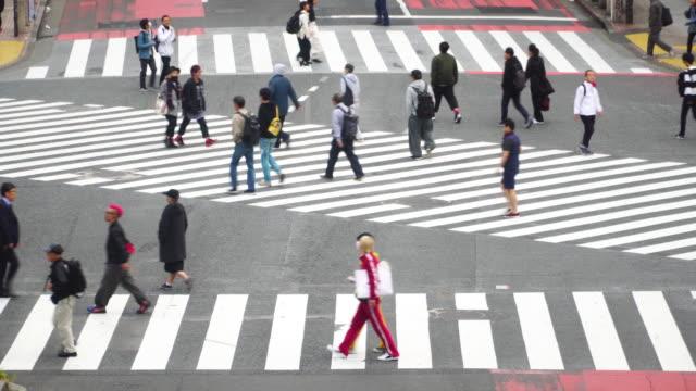4k real time: Shibuya crossing in Tokyo, Japan.