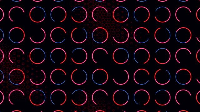 4 k rot blau abstrakten hintergrund kreismuster - pfeilzeichen stock-videos und b-roll-filmmaterial