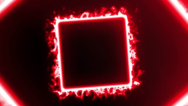 vídeos de stock e filmes b-roll de 4k red fire neon square lights background - eletrónica