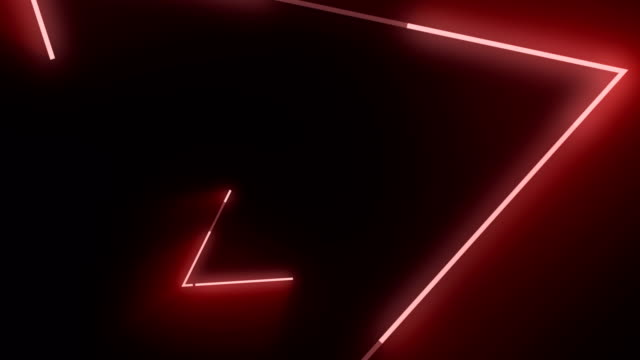 4k red triangle abstract concert background - neon colored stock videos & royalty-free footage