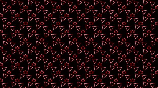 vidéos et rushes de 4 k triangle rouge abstrait de fond - arts culture et spectacles