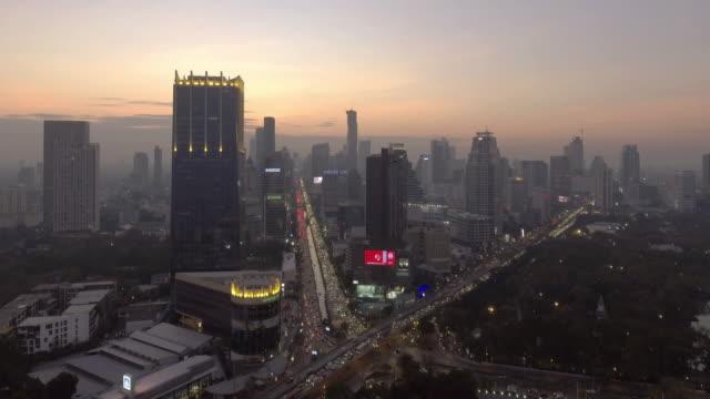vue aérienne 4 k résolution du paysage urbain à la ville de Bangkok, Thaïlande