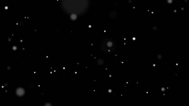 4k resolution christmas background, defocused particles on black alpha layer background,slowly falling white bokeh, glitter lights background - glittering stock videos & royalty-free footage