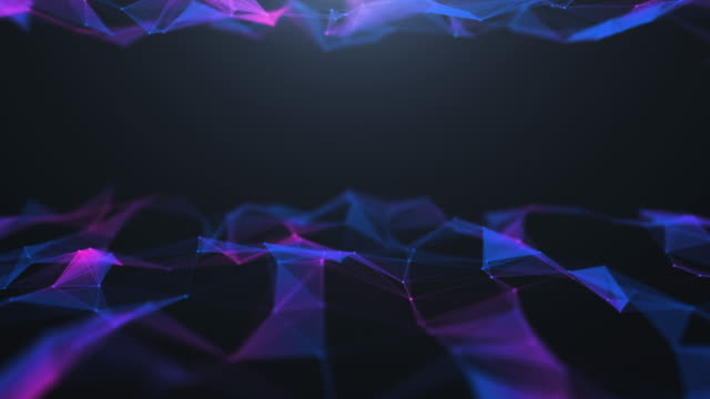 4k resolution connection polygonal in 3d space futuristic digital abstract background for science and technology - plexus stock videos & royalty-free footage