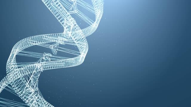 4 k Auflösung DNA Spin futuristische digital Hintergrund, abstrakten Hintergrund für Wissenschaft und Technologie