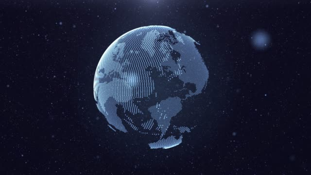 4k resolution futuristic digital background of earth global and futuristic digital background,abstract background for science and technology - holographic stock videos and b-roll footage