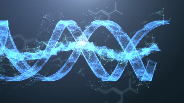 4k resolution futuristic dna spin movement digital,digital abstract background for science and technology - biotechnology stock videos & royalty-free footage