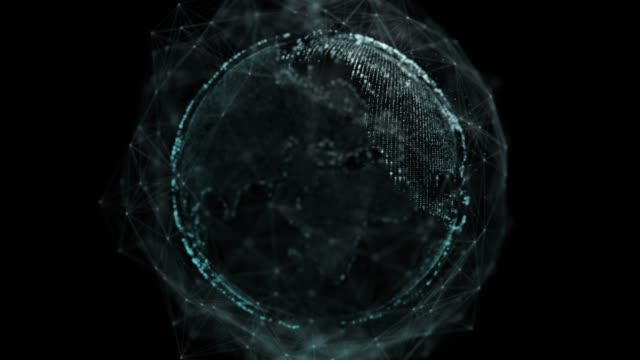 4k resolution global network alpha layer on back,futuristic digital abstract background for business and technology - illustration stock videos & royalty-free footage