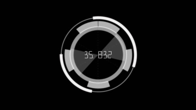 4k resolution graphic futuristic hud elements for user interface on alpha layer - dashboard stock videos & royalty-free footage