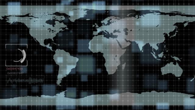 vídeos y material grabado en eventos de stock de 4 resolución k fondo de tecnología del holograma del mundo mapa - transmisión