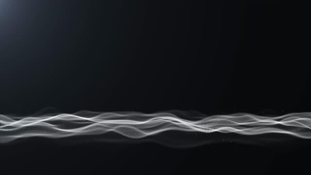vidéos et rushes de résolution 4k du paysage numérique futuriste vague abstrait fond pour les affaires, la science et la technologie - élément graphique