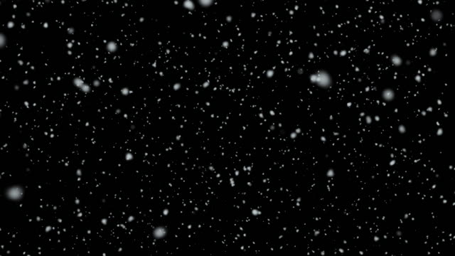 4k resolution particle abstract background of snowfall alpha layer on back - frozen stock videos and b-roll footage