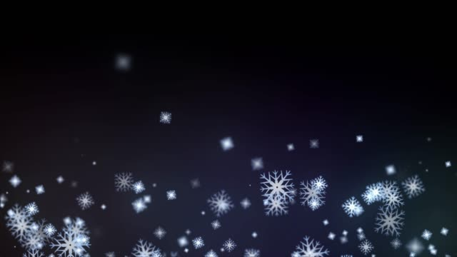 4k resolution particle abstract background of snowfall stock video, seamless loop - christmas decoration stock videos & royalty-free footage