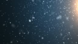 4k resolution Particle Abstract Background of snowfall