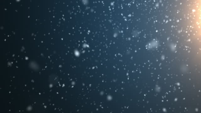 4k resolution particle abstract background of snowfall - snowing stock videos & royalty-free footage