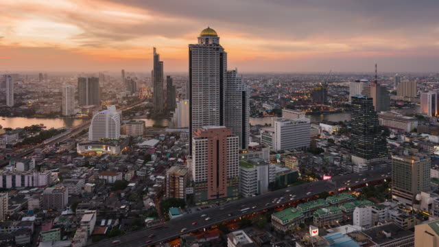 4k auflösung zeitraffer bangkok stadtbild von thailand - bangkok stock-videos und b-roll-filmmaterial