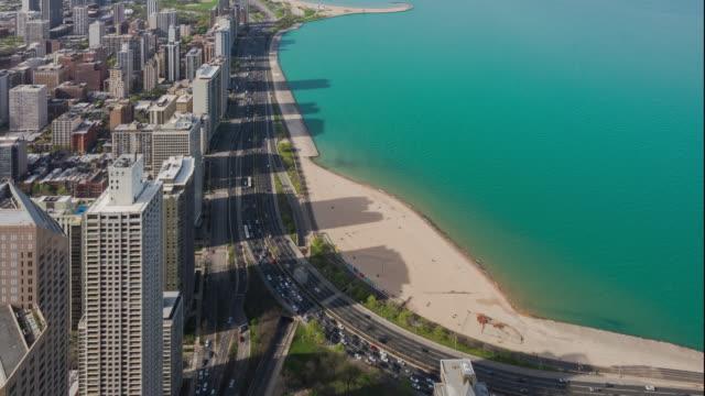 4 k Auflösung Time Lapse of Chicago City mit Verkehrsstraße