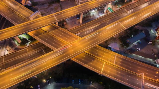 4 k auflösung zeit verfallen road bangkok bangkok cityscape von thailand, verbindung technologiekonzept - connection in process stock-videos und b-roll-filmmaterial
