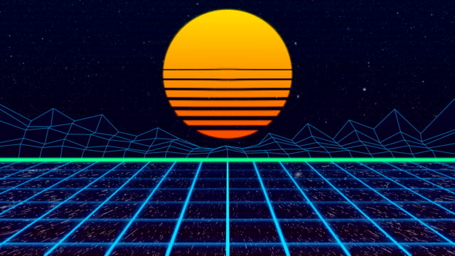 4k retro road background - stock video - synthesizer stock videos & royalty-free footage