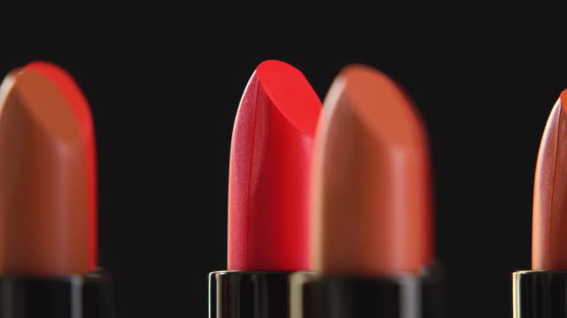 4k rotation of lipstick collection. - collection stock videos & royalty-free footage