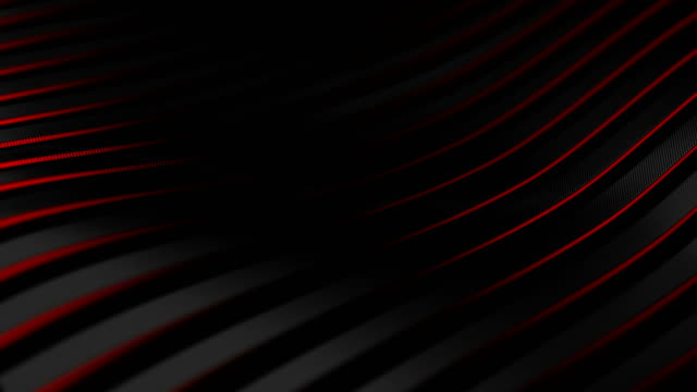 4k. seamless loop. black carbon fiber motion background with red glowing neon light. technology wavy animation, 3d illustration. - red stock videos & royalty-free footage