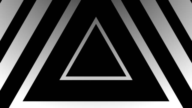 4k seamless pattern of high contrasted bizarre and grungy black and white triangles endless tunnel background video - tunnel stock videos & royalty-free footage